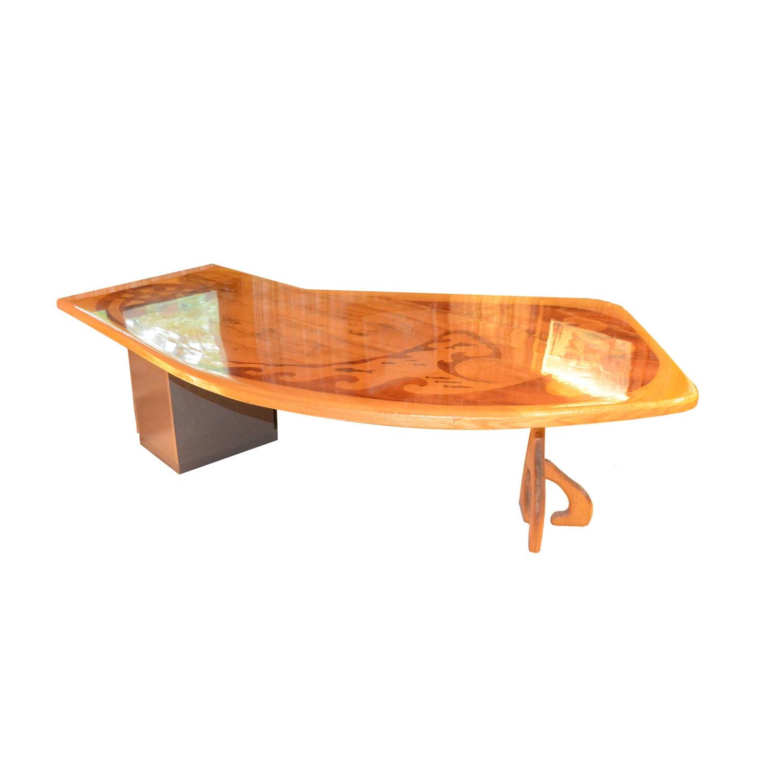 Custom Made Inlaid Executive Desk