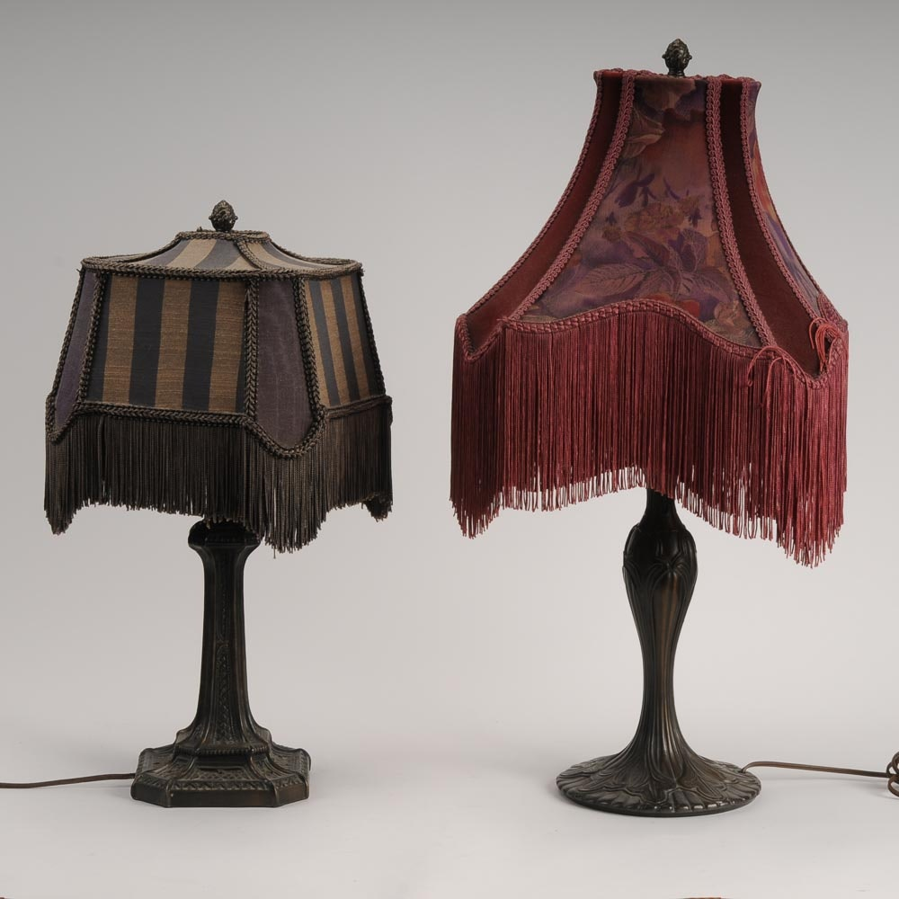 Pair of Reproduction Metal Lamps