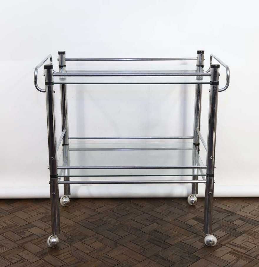 Contemporary Bar Cart Ebth