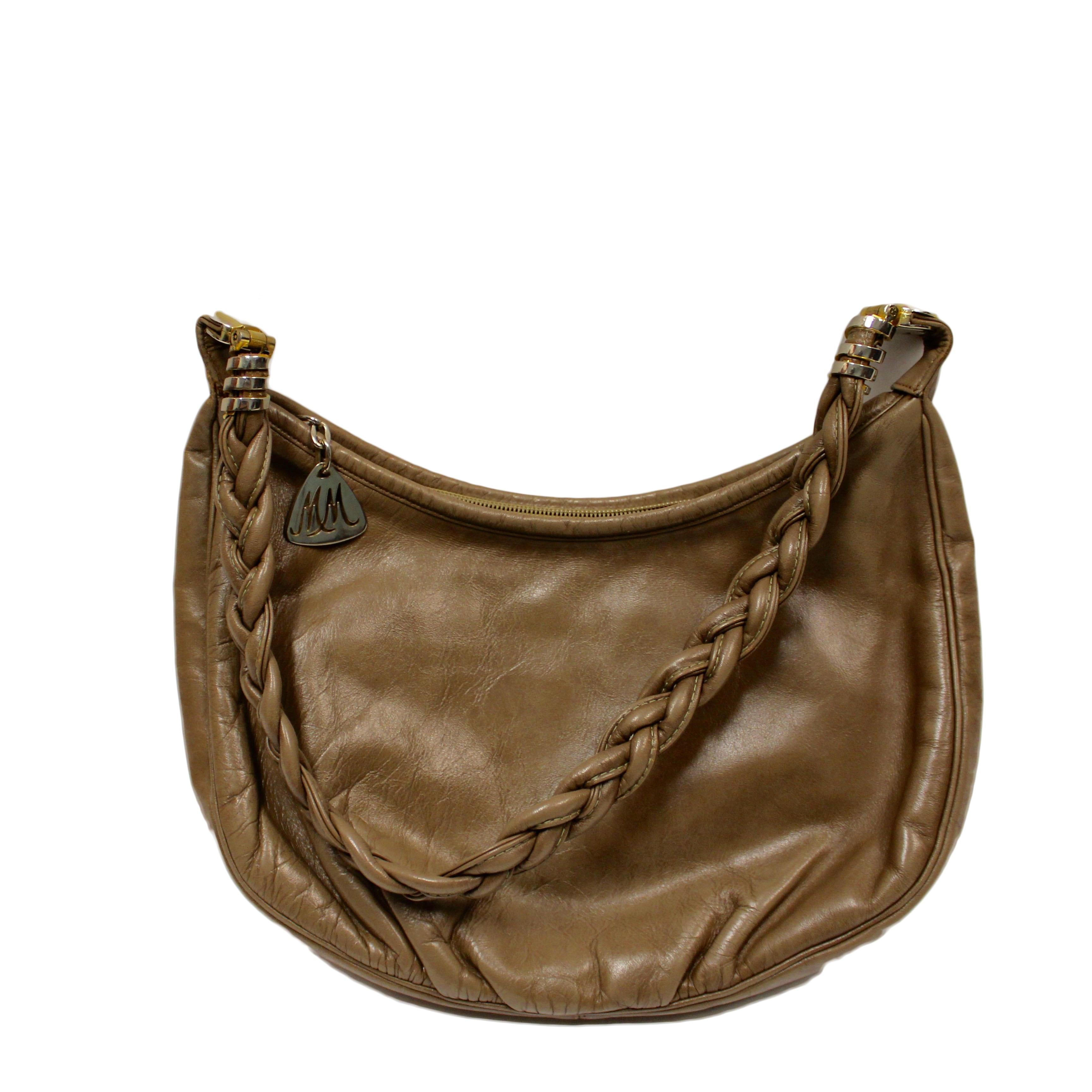 Vintage Morris Moskowitz Leather Shoulder Bag