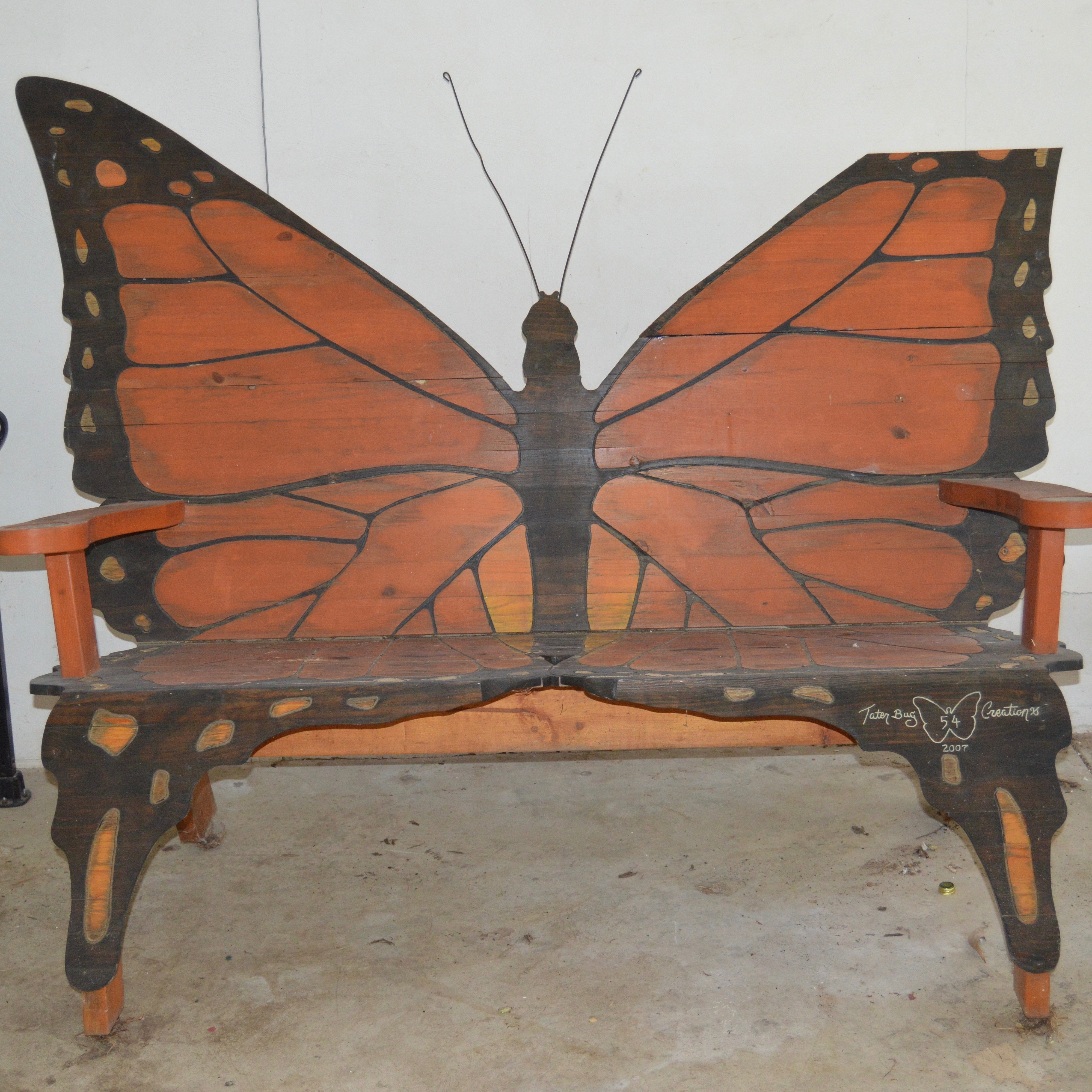 Unique Butterfly Bench