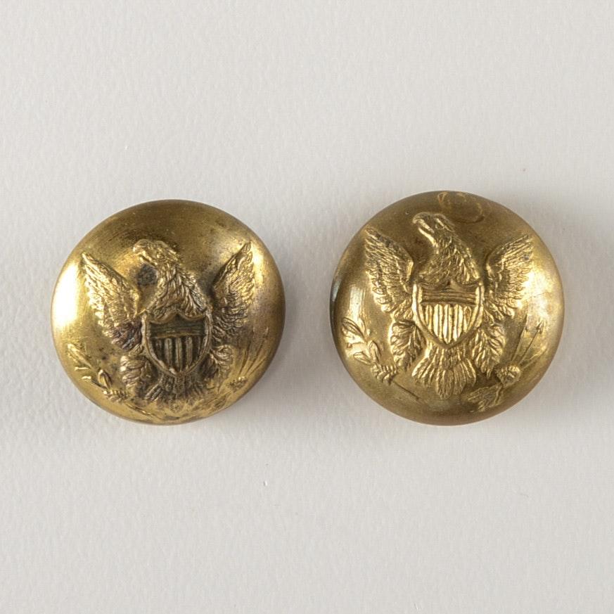Pair of Civil War Uniform Buttons