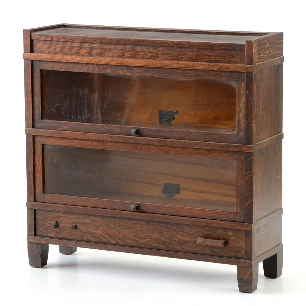 Globe Wernicke Oak Barrister Bookcase Model 308-798