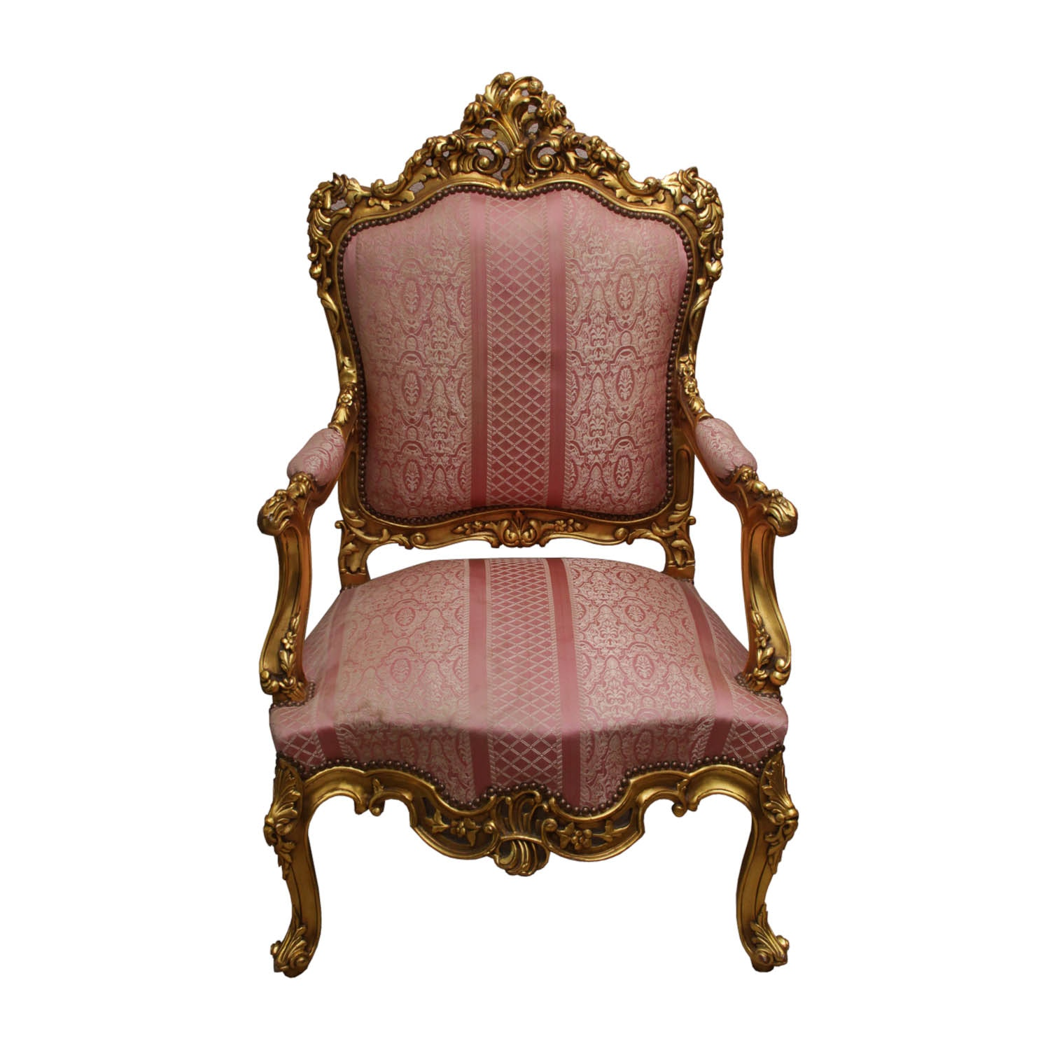 Pink And White Rococo Chair ...