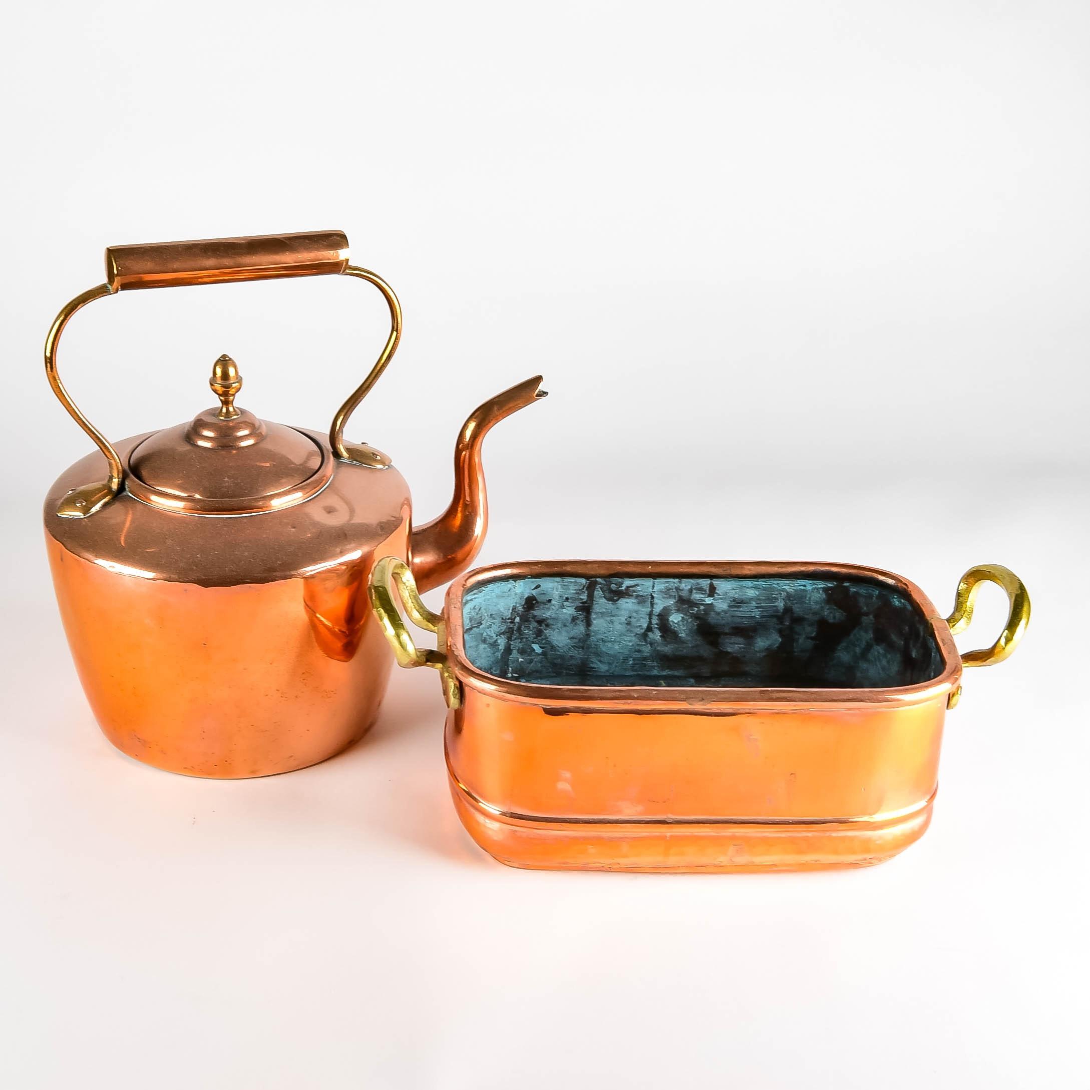 Copper Teapot and Bin