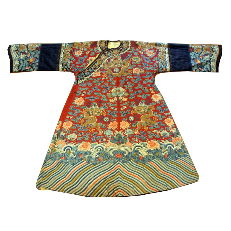 Late Qing Dynasty Court Robe with Dragons