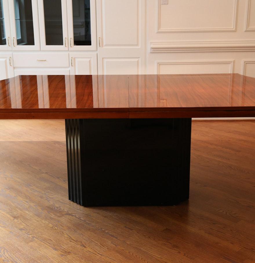 Henredon Elan Dining Room Table with Leaf and Custom Pads : EBTH
