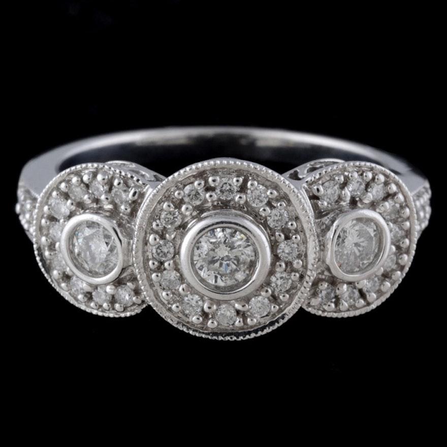 Keepsake 14K White Gold Diamond Ring