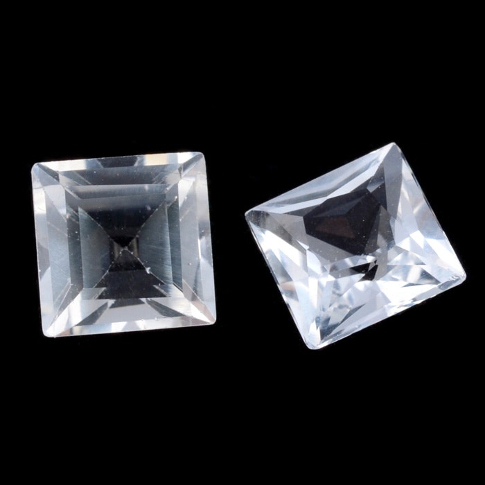 Loose 1.57 Carat Total Weight White Topaz Gemstones