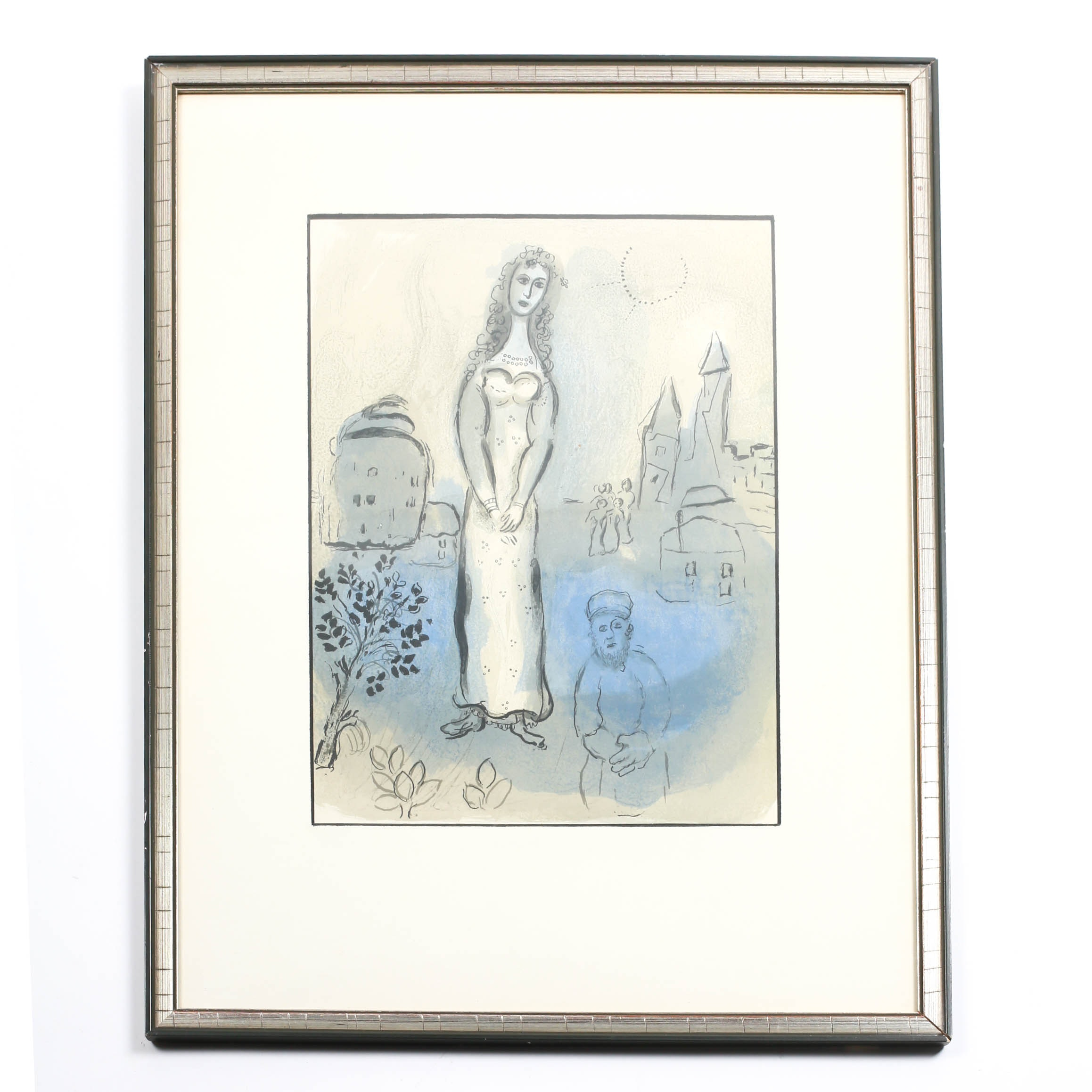 """""""Esther"""" Original Lithograph by Marc Chagall"""