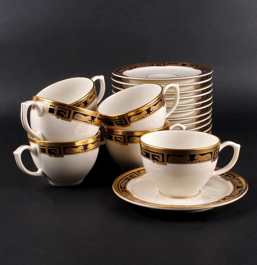 Cartier la maison de l 39 art deco teacups and saucers ebth for Art maison deco
