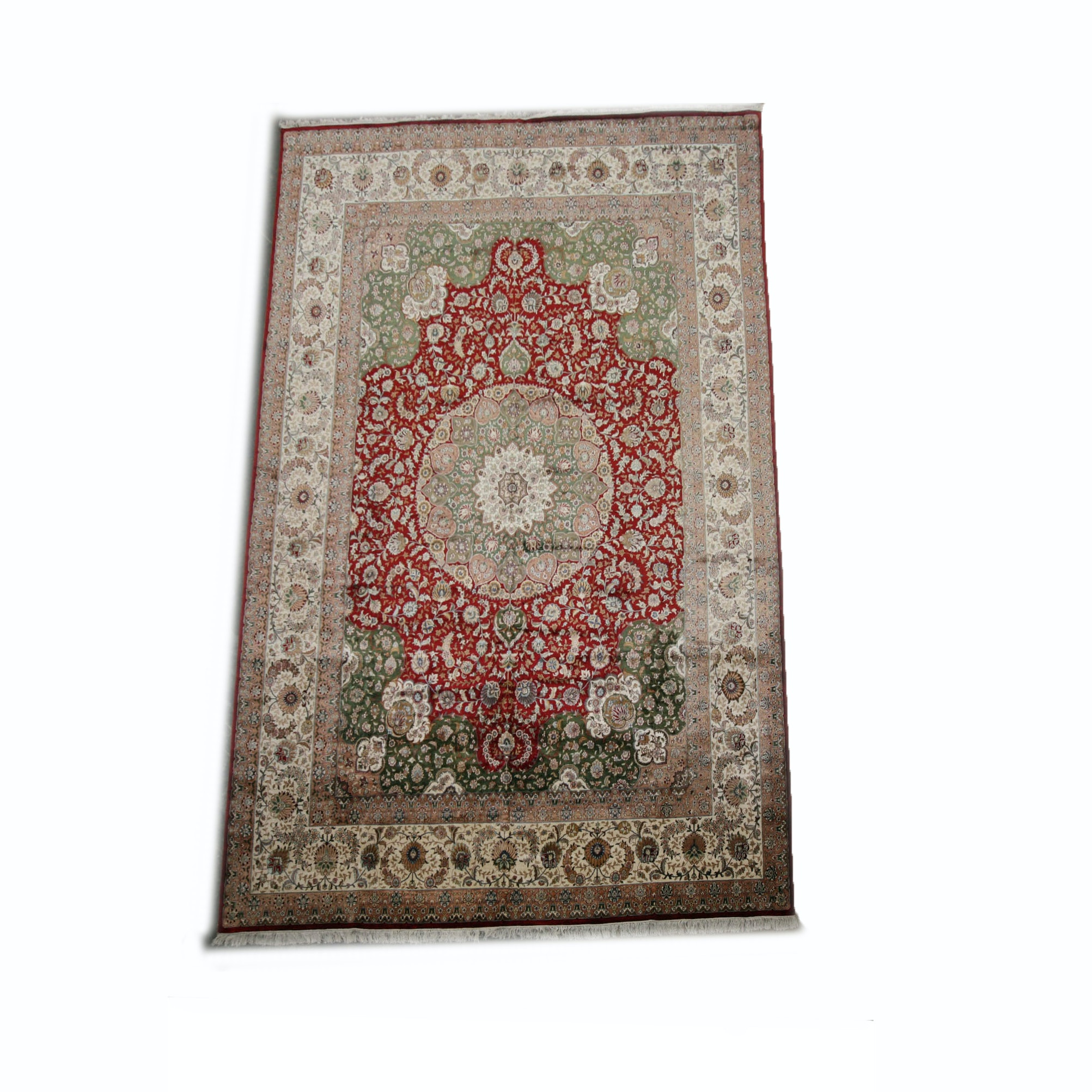 Large Handwoven Isfahan Area Rug