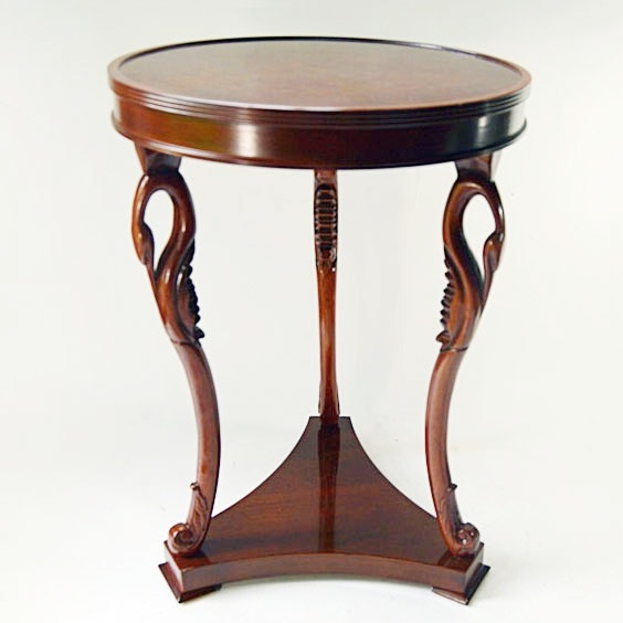 Mahogany Side Table With Swan Neck Tripod Legs ...