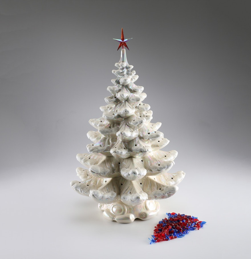 Music Box Ceramic Christmas Tree With Lights : EBTH