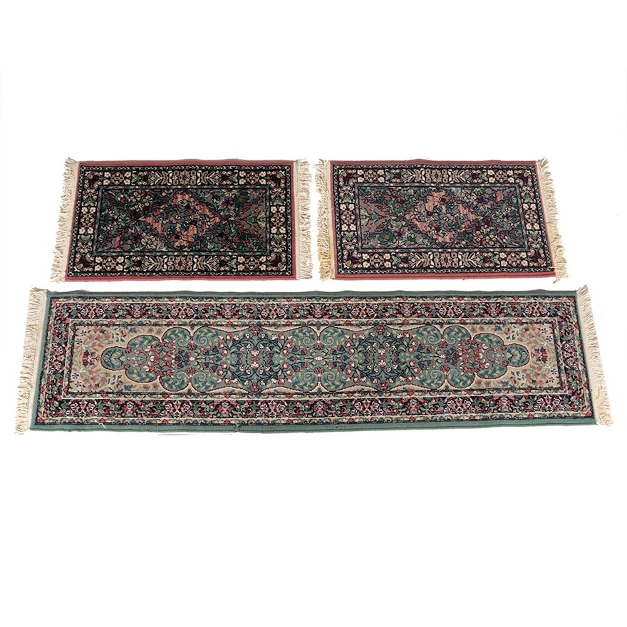 Oriental Runner And Pair Of Matching Area Rugs