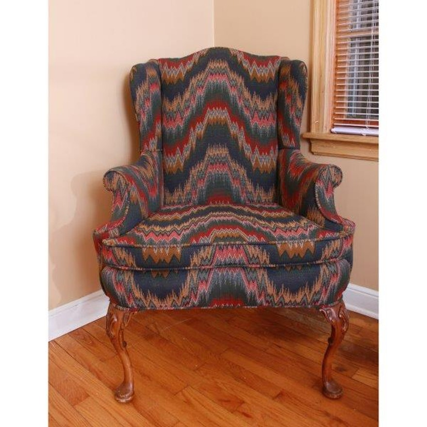Kittles Flame Stitch Wingback Chair