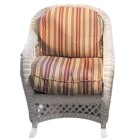 henry link white wicker rocking chair