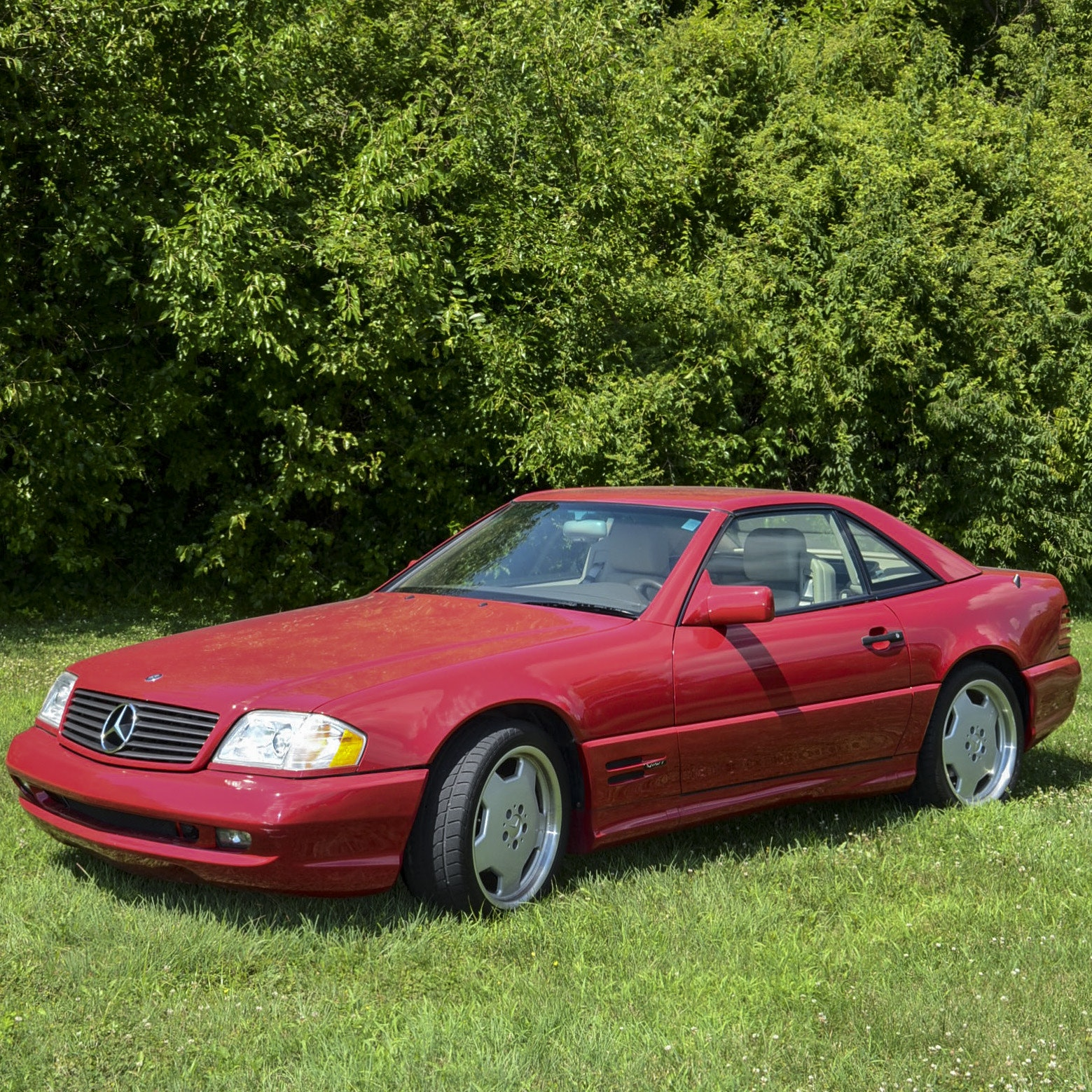 1996 Imperial Red Mercedes SL500 Sport Roadster