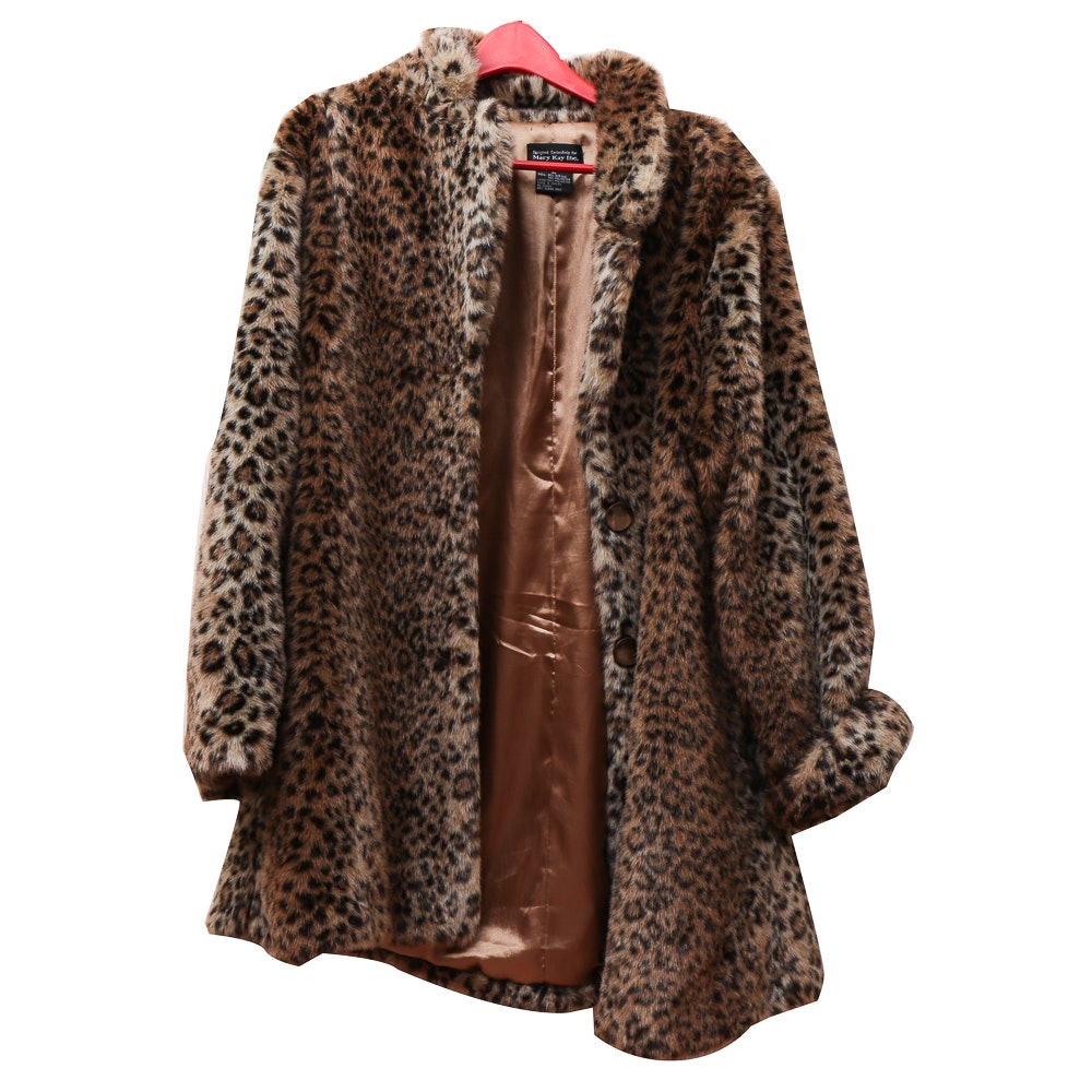 Mary Kay Faux Fur Coat