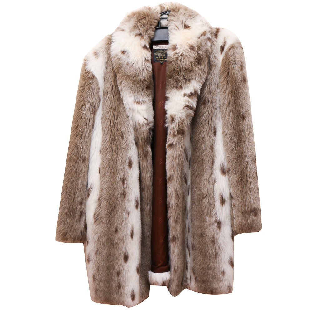 Norm Thompson Synthetic Fur Coat