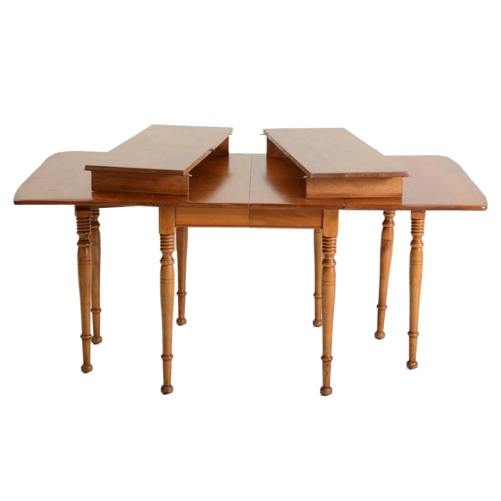 Cushman Colonial Creations Maple Drop Leaf Dining Table Ebth