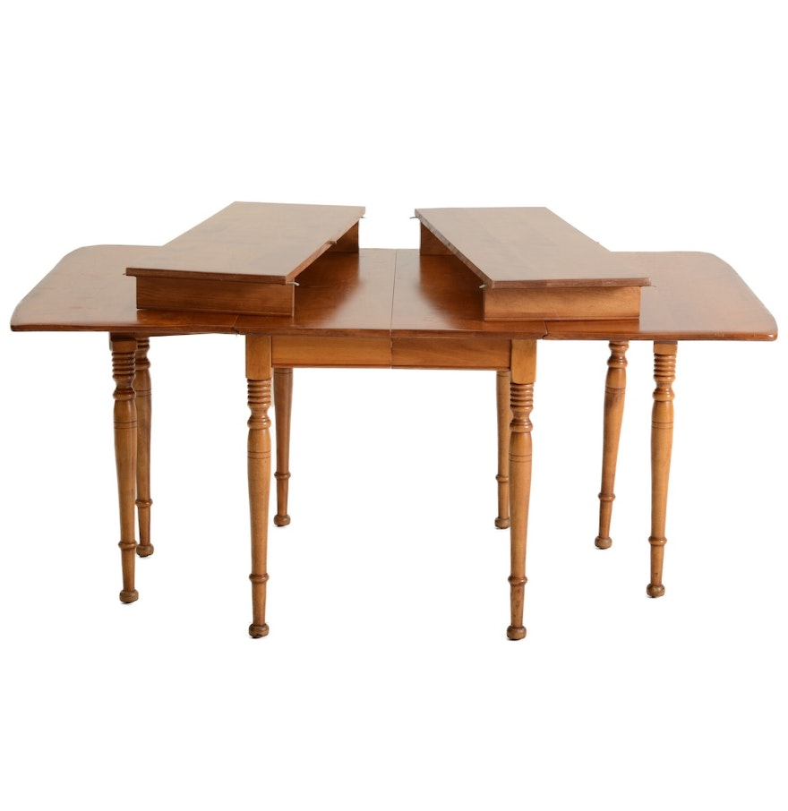 Cushman colonial creations maple drop leaf dining table ebth for Maple dining table
