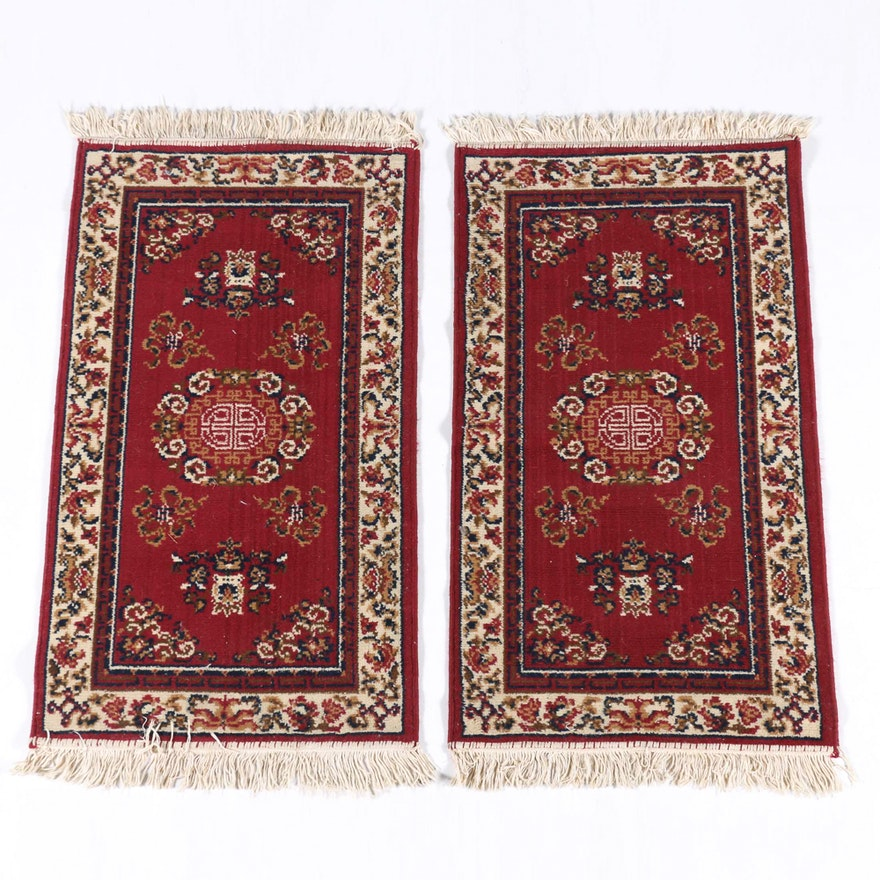 Pair Of Asian Inspired Rugs By Shiraz