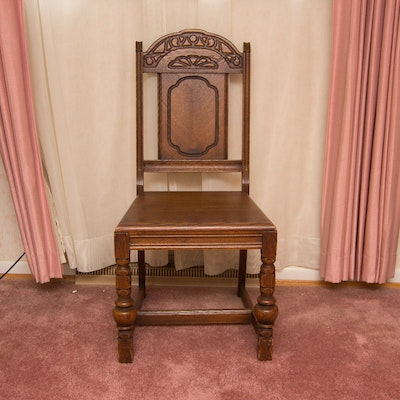 Vintage Oak Chair - Online Furniture Auctions Vintage Furniture Auction Antique