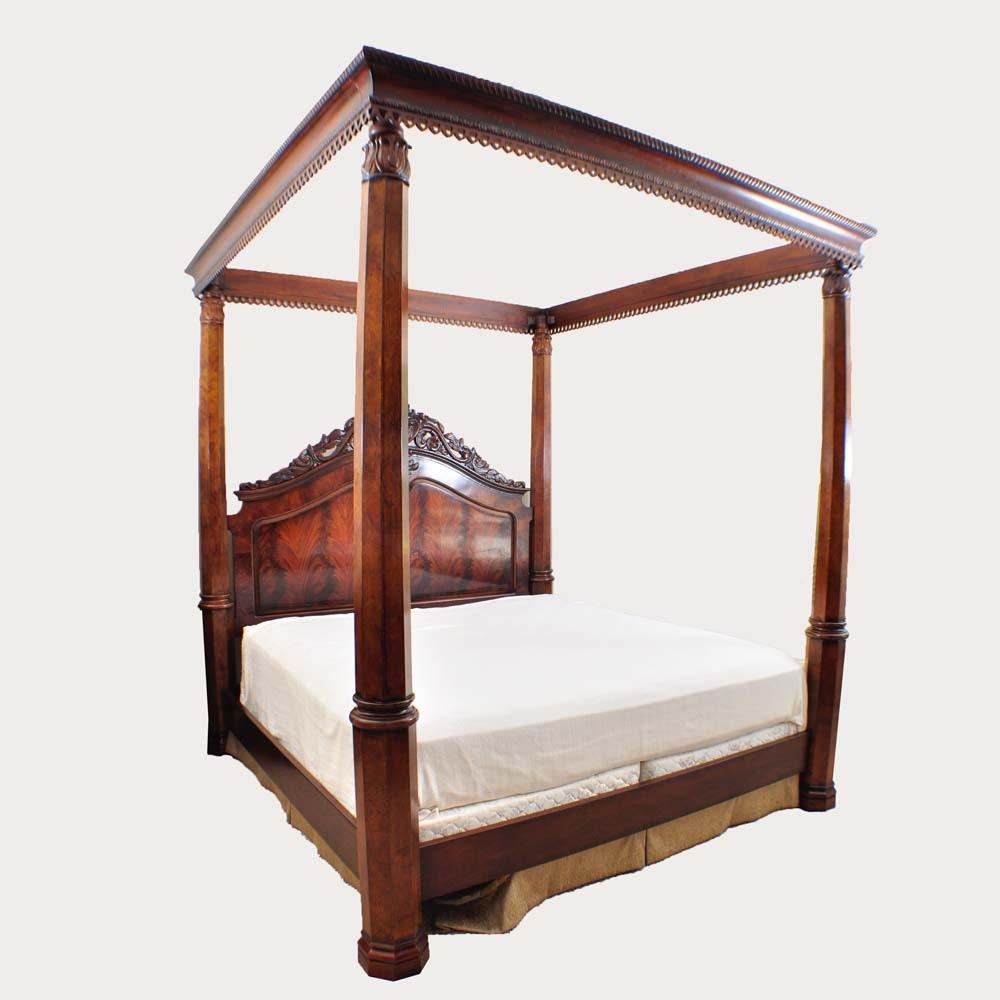 Henredon Mahogany California King Bed Frame and Canopy