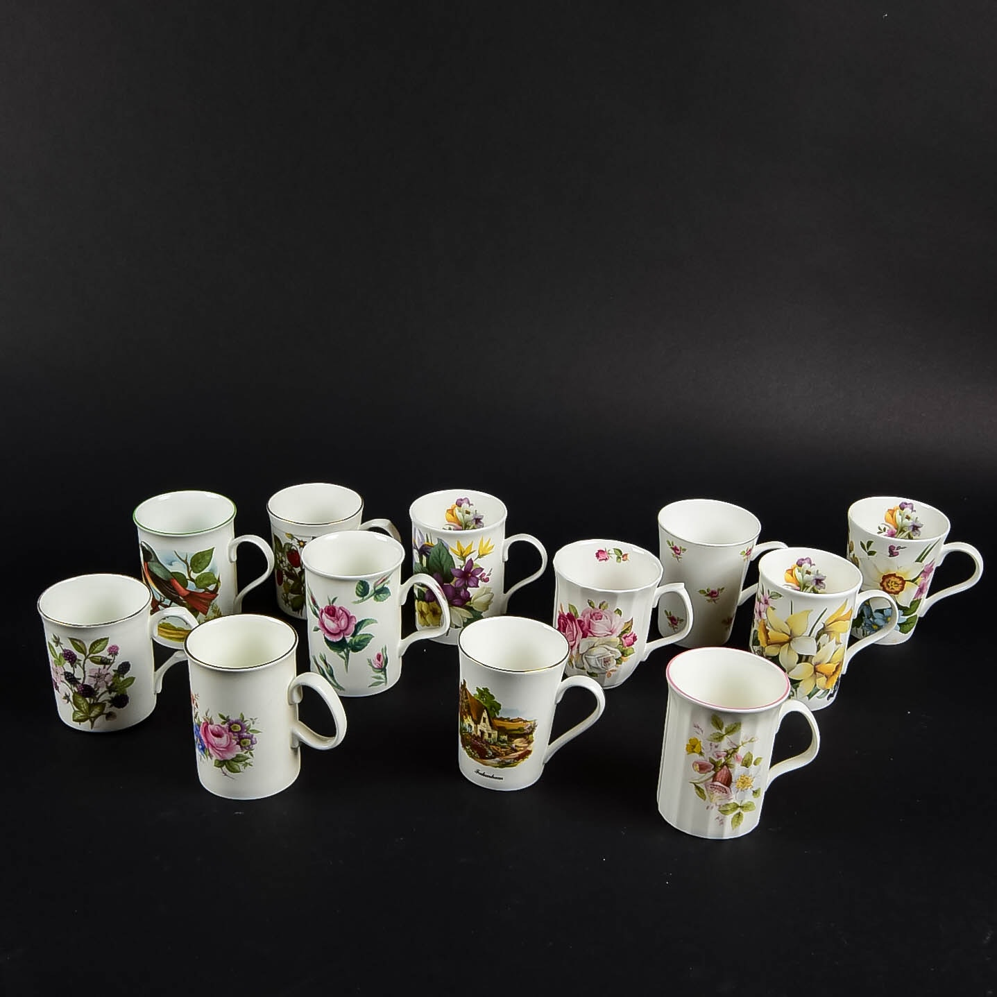 A Collection Of China Cups