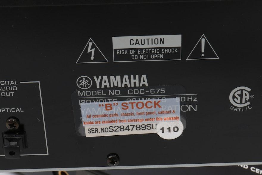 Yamaha cd player and phillips receiver ebth for Yamaha cdc 675