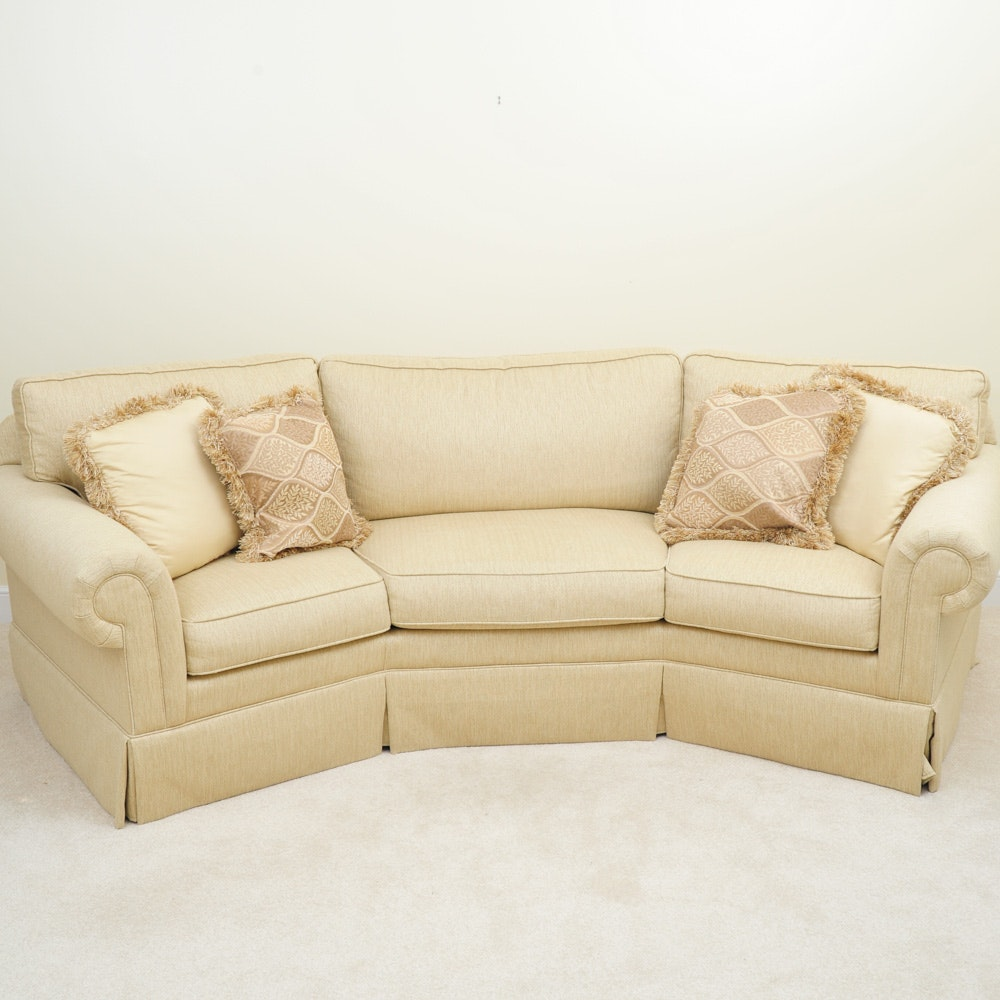 """Havertys """"Willow"""" Curved Sofa"""