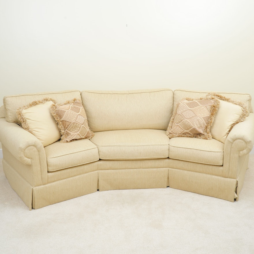 Havertys Willow Curved Sofa