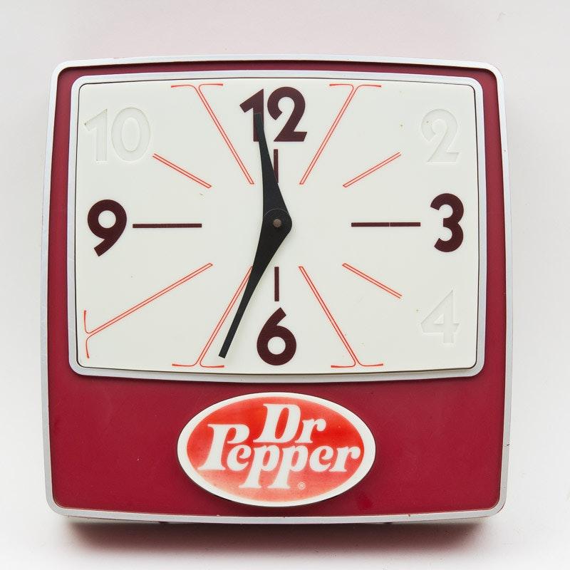 Vintage Dr. Pepper Wall Clock
