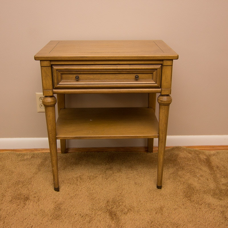 Vintage White Fine Furniture Nightstand ...