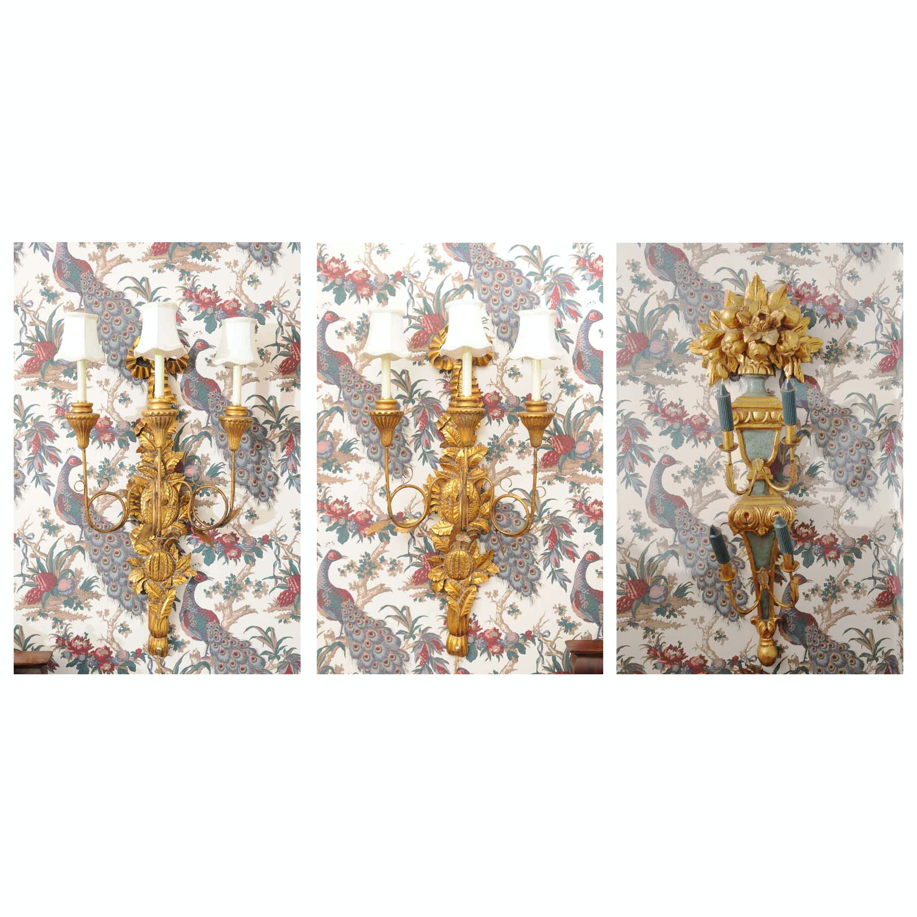 Trio of Wall Sconces
