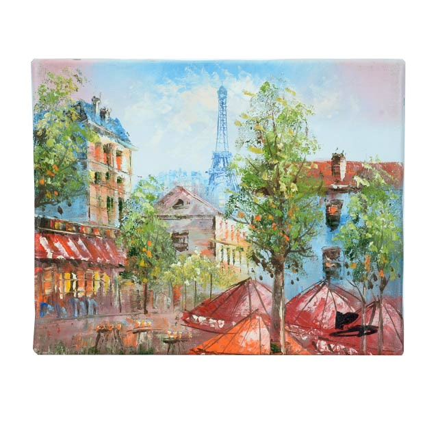 Oil on Canvas Painting of Paris