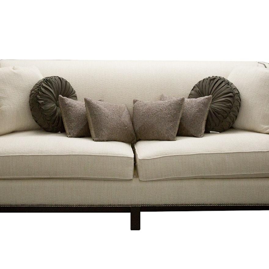 Bernhardt Interiors Chatham Sofa With Cynthia Rowley Pillows