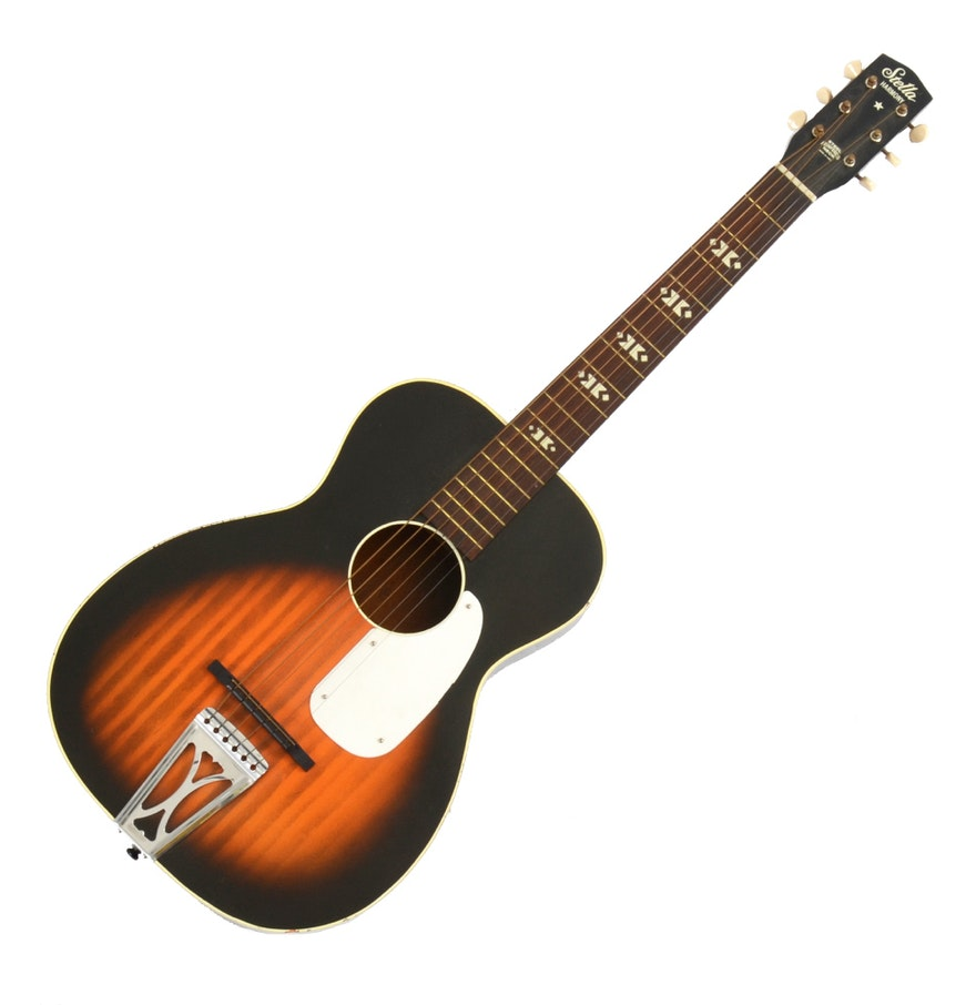 harmony stella acoustic guitar ebth. Black Bedroom Furniture Sets. Home Design Ideas