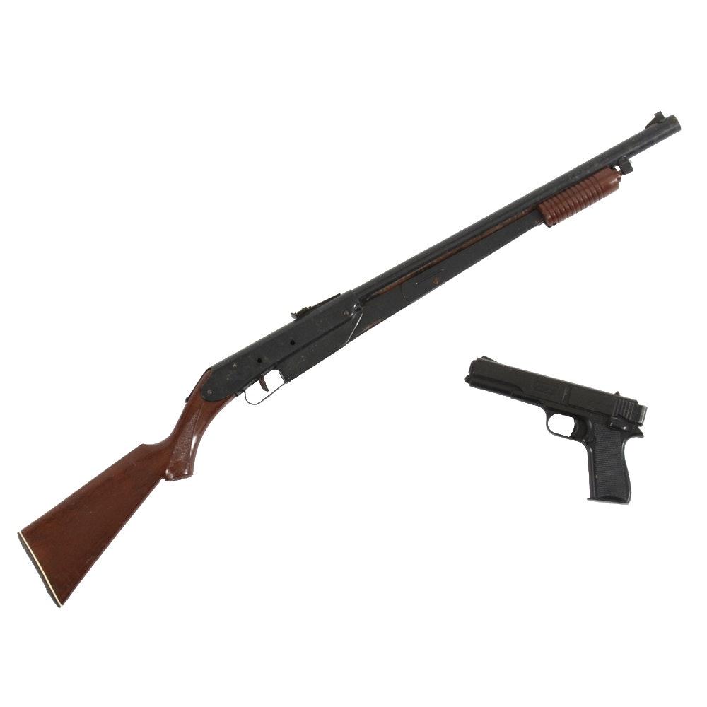 Vintage Marksman Repeater Air Pistol and Daisy Model 25 BB Gun