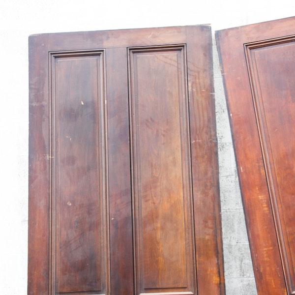 Large Wooden Pocket Door Pair Ebth