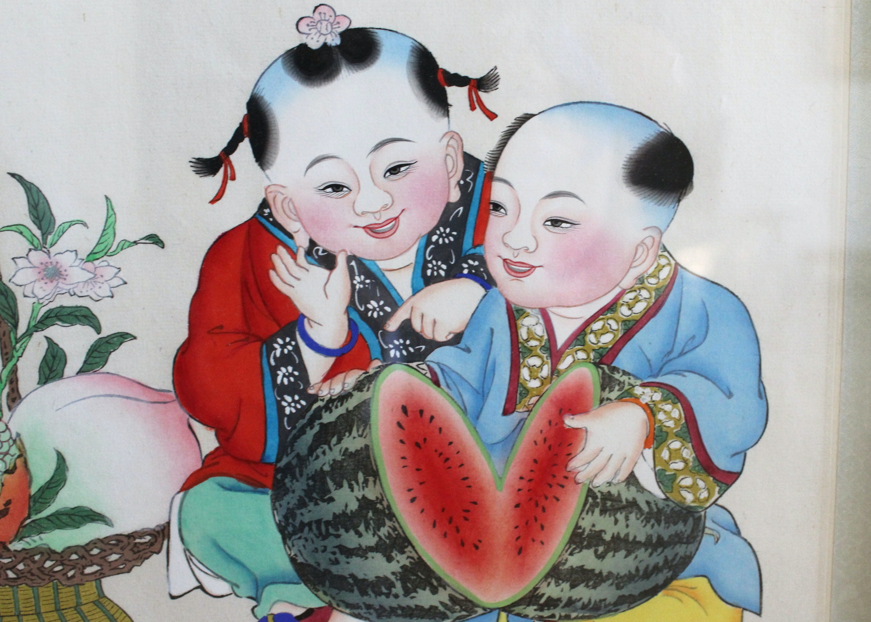 Original Nian Hua Chinese Prints Of Children Ebth
