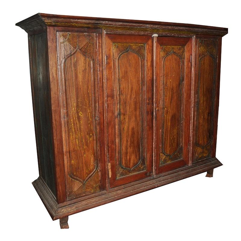 Primitive Carved Cabinet