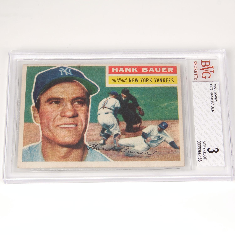 Hank Bauer Baseball Card - Beckett Graded 3