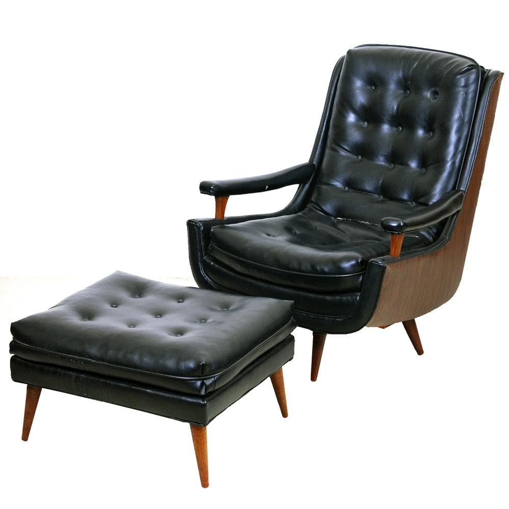Mid century modern chair and ottoman ebth - Mid century modern chair and ottoman ...