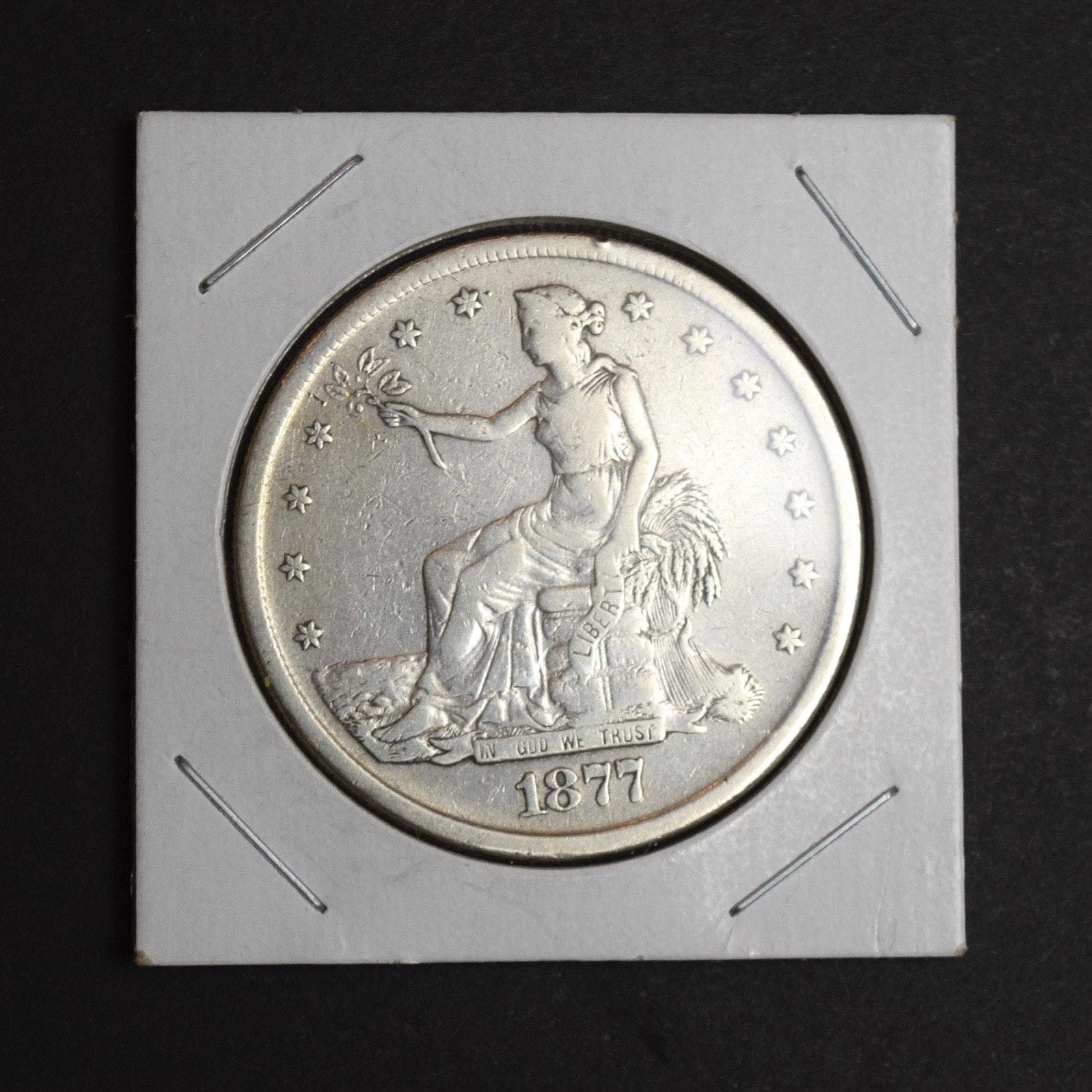 1877 S Silver Trade Dollar