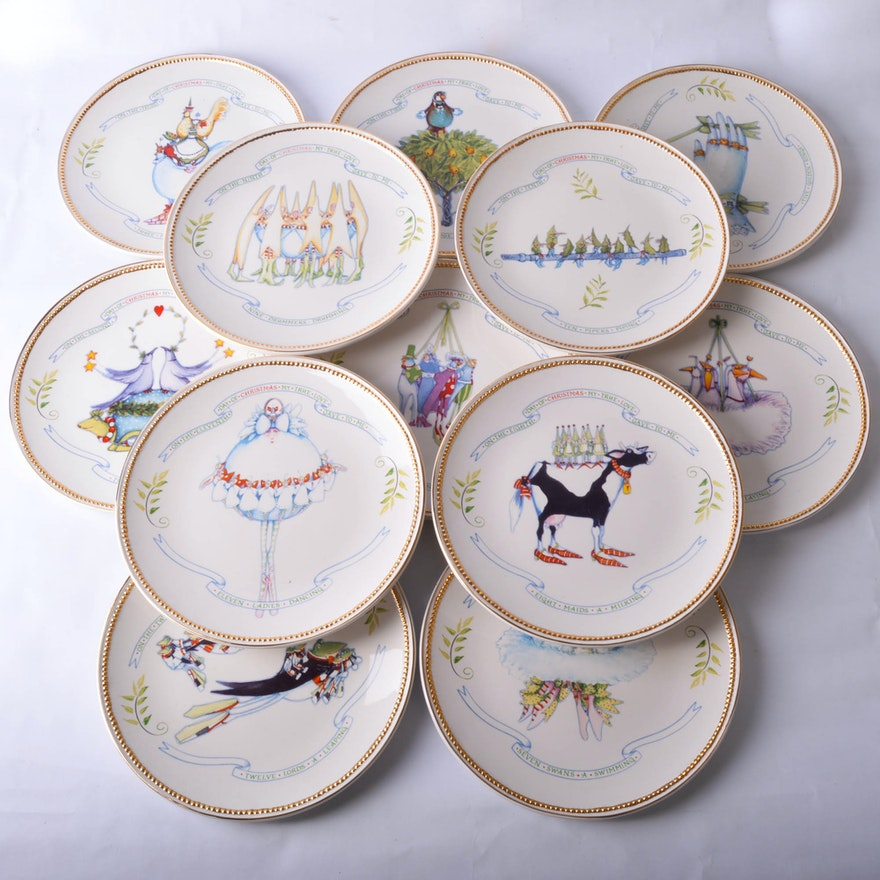 56 twelve days of christmas plates