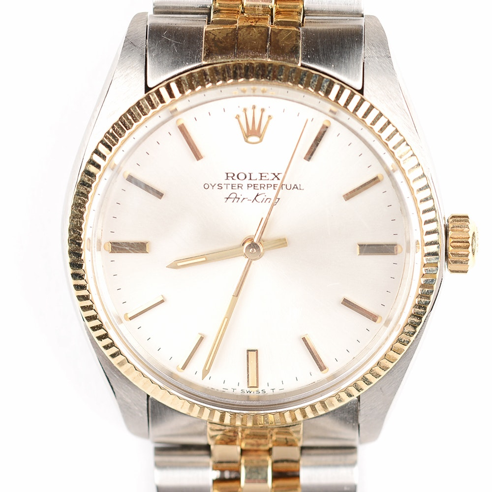 Stainless Steel and 18K Yellow Gold Oyster Perpetual Air King Rolex