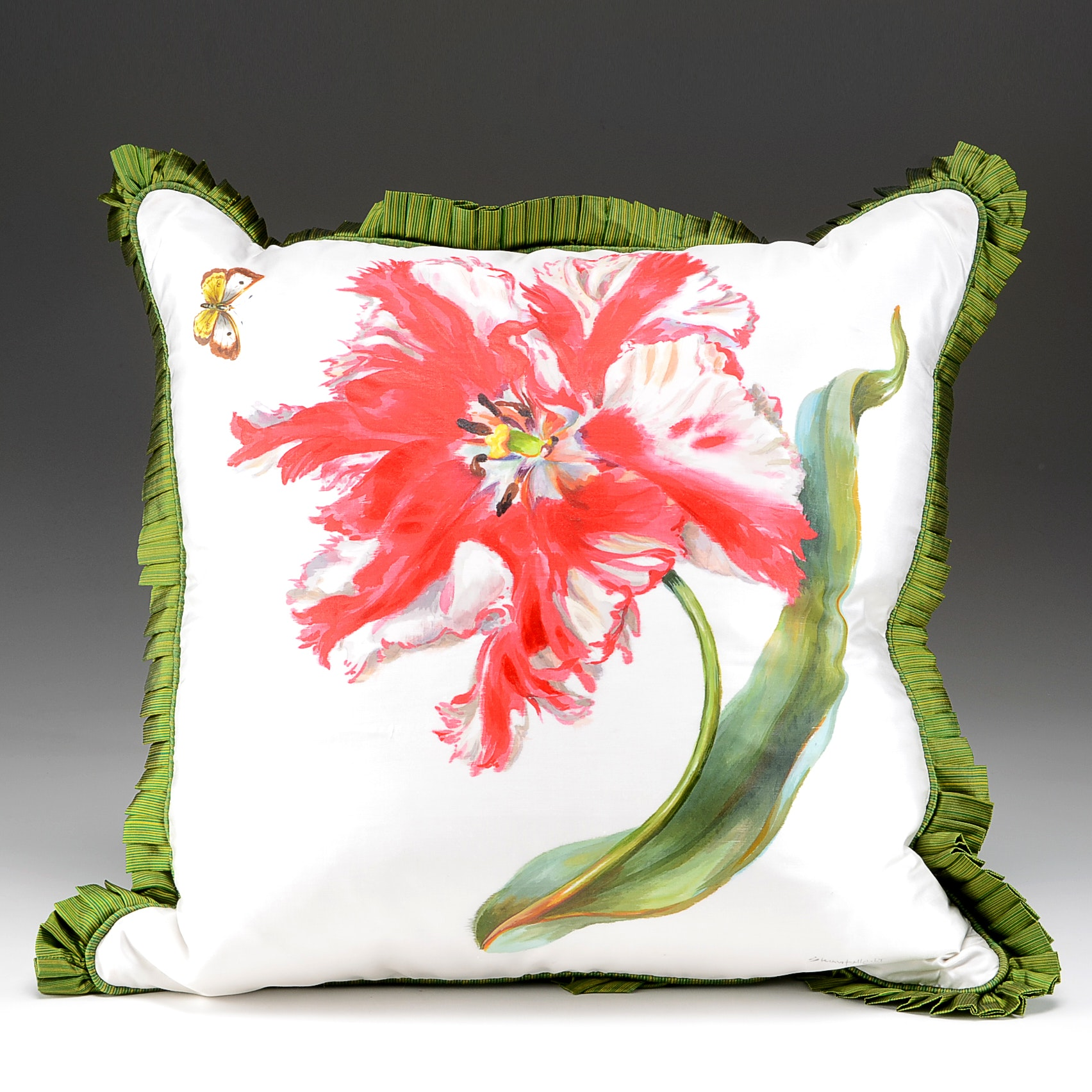 Shantelle's Studio Hand Decorated Silk Throw Pillow