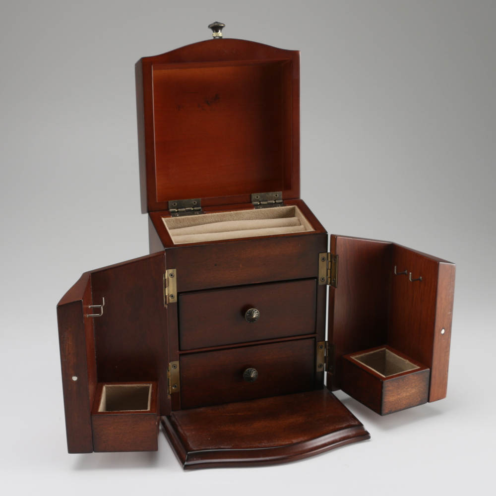 The Bombay Company Wooden Jewelry Box EBTH